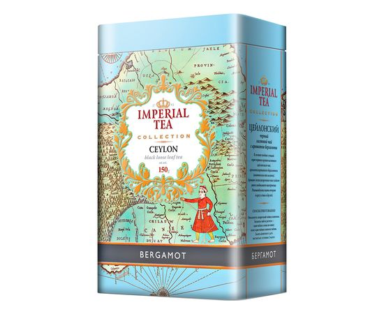 Чай Imperial Tea Collection Бергамот черный листвой 150гр. ж/б